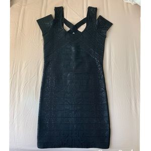 BRAND NEW Tight Black Shimmery Animal Print Dress